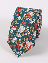 Men's Floral Printed Cotton 6cm Narrow Version Of Casual Tie