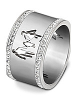 Women's Band Rings AAA Cubic Zirconia Fashion Vintage Adorable Titanium Steel Ring Jewelry For Wedding Engagement Daily Family
