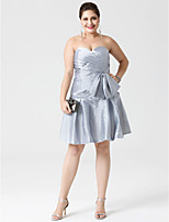 A-Line Sweetheart Knee Length Taffeta Cocktail Party Dress with Bow(s) Criss Cross by