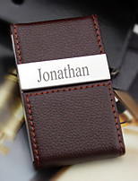 Personalized Graceful Business Chocolate Card Holder With Leatherette Cover