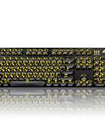 Conjuntos de teclas de ajuste para teclado mecânico teclado gamimg Teclas de teclado Steampunk 104 teclas