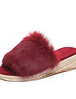 Для женщин Тапочки и Шлепанцы Удобная обувь Формальная обувь Осень Зима Полиуретан Повседневные Для праздника Для вечеринки / ужина На