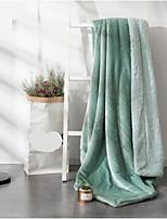 Коралловый флис Сплошной цвет Полиэстер /хлопок одеяла