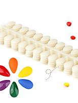 Pinpai-Color Nail Tips Drop-shaped Solid Natural Color Nail Polish Swatch Plastic Model 5-Pack Nail Art Design