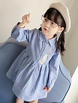 Robe Fille de Imprimé Coton Polyester Automne Manches longues