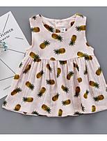 Robe Fille de Dessin-Animé Coton Eté Sans Manches
