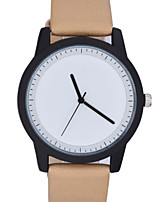 Men's Fashion Watch Quartz Genuine Leather Band Casual Minimalist Black Brown Green Grey Khaki