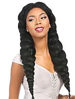 Jumbo Treccine a boccoli Afro Crochet trecce con capelli umani Capelli 100% Kanekalon Borgogna Blu Verde Giallo Marrone pastello