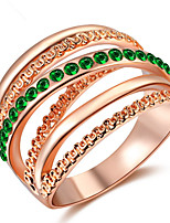 Settings Ring Luxury Euramerican Fashion Elegant Noble 4 Colors Birthday Business Movie Gift Jewelry