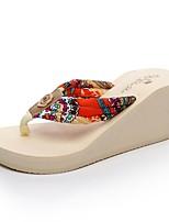 Women's Slippers & Flip-Flops Comfort Slippers Light Soles EVA Summer Casual Dress Wedge Heel Brown Beige Black 1in-1 3/4in