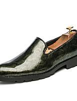 Для мужчин обувь Лакированная кожа Весна Осень Удобная обувь Мокасины и Свитер С Цветы Назначение Повседневные Для вечеринки / ужина