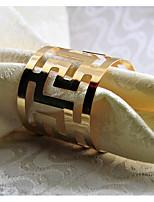 Avec motifs Ronds de serviettes , Métallique MatérielHotel Dining Table Décoration Soirée Mariage Mariage Banquet Décorations de Noël