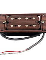 Hand Wound Humbucker Set Rosewood and Fiber Four Strings Pickup for Cigar Box Electeic Guitar