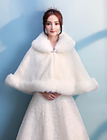 Women's Wrap Capes Faux Fur Wedding Party/ Evening Rhinestone