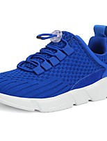 Boys' Athletic Shoes Walking Comfort Knit Spring Fall Casual Lace-up Flat Heel Blushing Pink Blue Gray Black 2in-2 3/4in