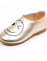 Girls' Flats Comfort Spring Fall Leatherette Casual Silver Black Gold Flat