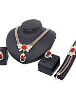 Damen Halskette Modisch Klassisch Strass vergoldet Für Hochzeit Party Verlobung Hochzeitsgeschenke