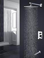 Современный Высокое качество На стену Дождевая лейка with  Керамический клапан Хром , Смеситель для душа