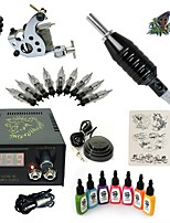 Basekey High Born Tattoo Kit H015-A8 1 Machine With 7 Inks Power Supply 10PCS Needles