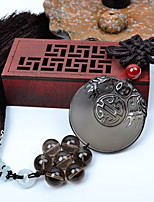 DIY Automotive Pendants  Chinese Style Obsidian  Dragon Peace And Blessing  Car Pendant & Ornaments  Jade Crystal