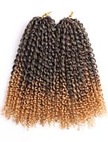 Фигурные плетенки Косы в технике Кроше Кудрявый 100% волосы канеколонЧерный Темно-рыжий Черный / Клубника Blonde Черный / Medium Auburn