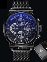 Luxury Brand Stainless Steel Quartz Watch Men Calendar Clock Sports Military WristWatch Relogio Masculino