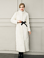 Women's Wrap Bridal Coats/Jackets Faux Fur Wedding Party/ Evening / Casual Long Sleeve Fur Coats/Jacket Sashes