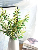 27inch Large Size 2 Branch Silk Styrofoam Polyester Plants Tabletop Flower Artificial Flowers