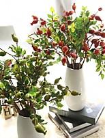 5 предметов 5 Филиал Шелк Пенопласт Полиэстер Pастений Букеты на стол Искусственные Цветы