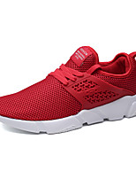Men's Athletic Shoes Comfort Fall Winter Breathable Mesh Tulle Fabric Cycling Shoes Athletic Outdoor Flat Heel White Black Gray Ruby Green