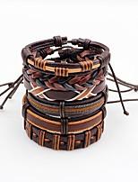 Men's Leather Bracelet Fashion Multi-ways Wear Leather Irregular Jewelry For Stage Street