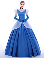 Costumes de Cosplay Costume de Soirée Bal Masqué Princesse Reine Cosplay de Film Robe Gants Jupon Bandeau Halloween Noël Carnaval Nouvel