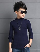 Boys' Solid Blouse,Others Spring Fall Long Sleeve Regular