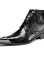 Men's Oxfords Comfort Novelty Fashion Boots Bootie Fall Winter Nappa Leather Wedding Office & Career Party & Evening Rivet Lace-up Flat