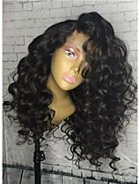 жен. Парики из натуральных волос на кружевной основе Натуральные волосы Реми Лента спереди Бесклеевая кружевная лента 150% 180% плотность