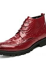 Для мужчин Ботинки Модная обувь Ботильоны Формальная обувь Обувь для дайвинга Осень Зима Искусственное волокно Свадьба Повседневные Для