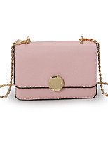 Women Bags All Seasons PU Shoulder Bag with for Casual Gold Black Red Blushing Pink Purple