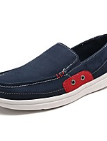 Men's Loafers & Slip-Ons Moccasin PU Spring Fall Casual Walking Moccasin Flat Heel Khaki Gray Black 2in-2 3/4in