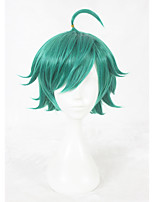 14inch Short Green King of Glory Wig Synthetic Heat Resistant Hair Anime Cosplay Wigs CS-341A