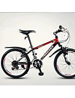Горный велосипед Велоспорт 18 Скорость 20 дюймы TX30 Векторный ободной тормоз Передняя вилка с амортизацией Стальная рама УглеродОбычные