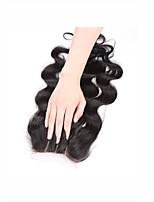 4x4inch rizado rizado cierre de encaje rizado remy cabello humano pelo cierre 8-20inch 3 parte camino