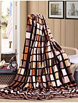 Super Soft Plaid Polyester Blankets