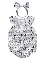 Baby Fashion Animal Print Cartoon One-Pieces,100%Cotton Spring Summer Sleeveless