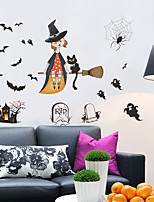 Wall Stickers Wall Decas Style Halloween Lovely Witch Scary Ghost Castle PVC Wall Stickers