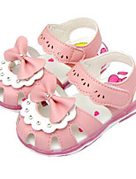 Girls' Sandals Comfort Summer Leatherette Casual Blushing Pink White Flat