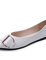 Для женщин На плокой подошве Удобная обувь Полиуретан Весна Осень Повседневные Для праздника На плоской подошве Белый Черный БежевыйНа