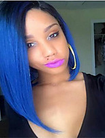 Ombre Color Wigs Synthetic Hair Short Wigs for Women Short Bob Wig Ombre Blue Hair Heat Resistant Cheap Bob Wig