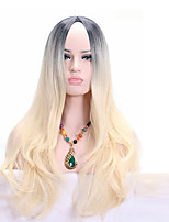 Women Synthetic Wig Capless Medium Wavy Blonde African American Wig For Black Women Cosplay Wigs Costume Wig