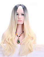 жен. Парики из искусственных волос Без шапочки-основы Средний Волнистые Блондинка Парик в афро-американском стиле Для темнокожих женщин