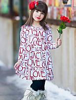 Vestido Chica de Estampado Algodón Manga Larga Primavera Otoño